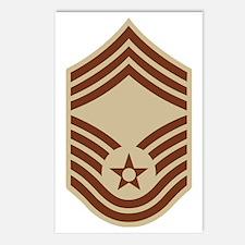 USAF-CMSgt-Black-Shirt-3 Postcards (Package of 8)