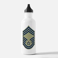 USAF-CMSgt-Black-Shirt Water Bottle