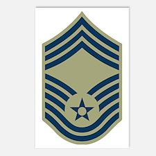 USAF-CMSgt-Black-Shirt-2 Postcards (Package of 8)