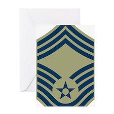 USAF-CMSgt-Olive.gif Greeting Card