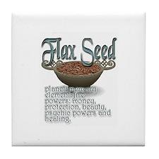 Cute Flax Tile Coaster