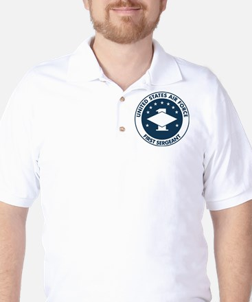 USAF-First-Sergeant-Logo-Bonnie.gif Golf Shirt