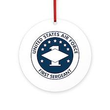 USAF-First-Sergeant-Logo-Bonnie.gif Round Ornament