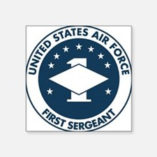 "USAF-First-Sergeant-Logo-Bo Square Sticker 3"" x 3"""