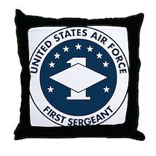 USAF-First-Sergeant-Logo-Bonnie.gif Throw Pillow