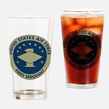 USAF-First-Sergeant-Black-Shirt Drinking Glass