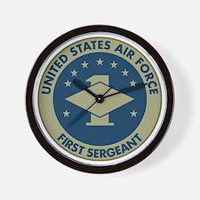 USAF-First-Sergeant-Black-Shirt Wall Clock