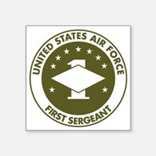 "USAF-First-Sergeant-Avocado Square Sticker 3"" x 3"""