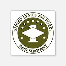 """USAF-First-Sergeant-Avocado Square Sticker 3"""" x 3"""""""