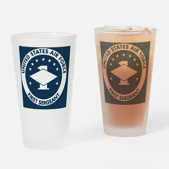 USAF-First-Sergeant-Magnet.gif Drinking Glass