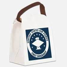 USAF-First-Sergeant-Magnet.gif Canvas Lunch Bag