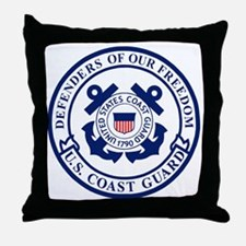 USCG-Defenders-Blue-White-2.gif Throw Pillow