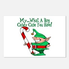 Candy Cane Elf Postcards (Package of 8)