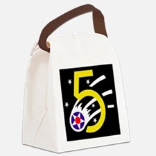 USAF-5th-AF-Black-Cap.gif Canvas Lunch Bag