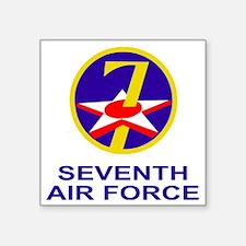 "USAF-7th-AF-Shirtback.gif Square Sticker 3"" x 3"""