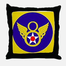 USAF-8th-AF-Clock.gif Throw Pillow