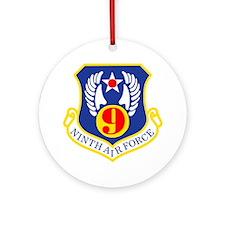 USAF-9th-AF-Bonnie-X.gif Round Ornament