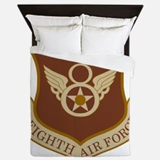 USAF-8th-AF-Brown-Shirt Queen Duvet