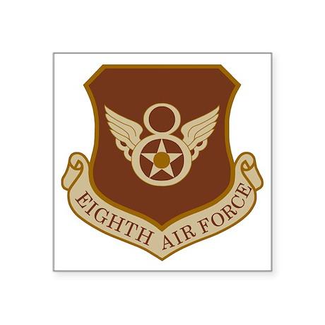 """USAF-8th-AF-Brown-Shirt Square Sticker 3"""" x 3"""""""