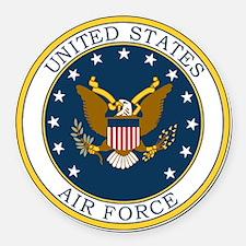 USAF-Patch-3X-DUPLICATE.gif Round Car Magnet