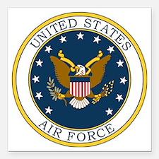 """USAF-Patch-3X-DUPLICATE. Square Car Magnet 3"""" x 3"""""""