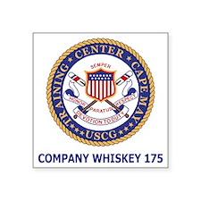"USCG-Recruit-Co-W175-Shirt- Square Sticker 3"" x 3"""