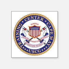 """USCG-TraCen-Cape-May-Bonnie Square Sticker 3"""" x 3"""""""