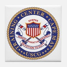 USCG-TRACEN-CpMy-Black-Shirt Tile Coaster