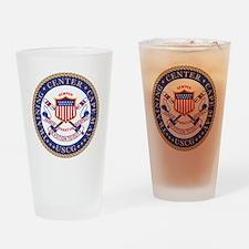 USCG-TRACEN-CpMy-Black-Shirt Drinking Glass