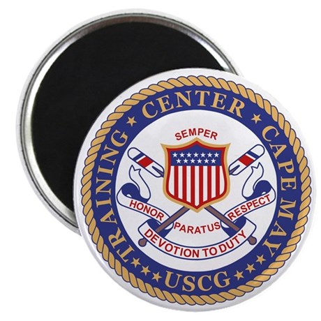 USCG-TRACEN-CpMy-Black-Shirt Magnet