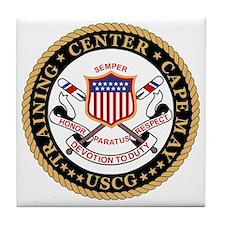USCG-TraCen-Cape-May-Black.gif Tile Coaster