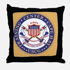 USCG-TraCen-Cape-May-Button.gif Throw Pillow