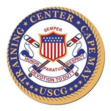USCG-TraCen-Cape-May-Button.gif Round Car Magnet