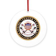 USCG-TraCen-Cape-May-Black.gif Round Ornament