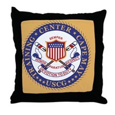 3-USCG-TraCen-Cape-May-Button.gif Throw Pillow