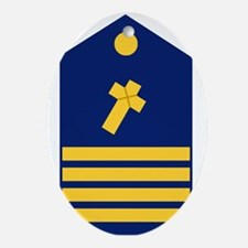 Navy-USCG-CAPT-Chaplain.gif Oval Ornament
