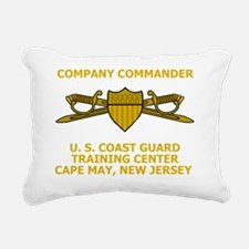 USCG-TRACEN-CpMy-CC-Blac Rectangular Canvas Pillow