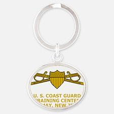 USCG-TRACEN-CpMy-CC-Black-Shirt-2 Oval Keychain