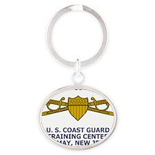 USCG-Company-Commander-Shirt.gif Oval Keychain