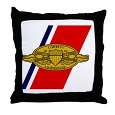 USCG-Company-Commander-Greetings.gif Throw Pillow