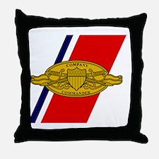 USCG-Company-Commander-Greetings.gif Throw Pillow
