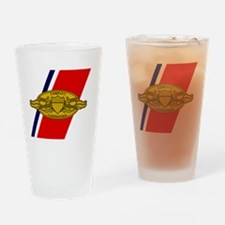 USCG-Company-Commander-Greetings.gi Drinking Glass