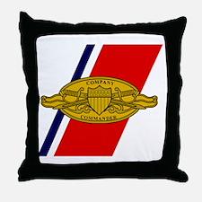 USCG-Company-Commander-Mousepad.gif Throw Pillow