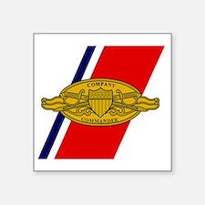 "USCG-Company-Commander-Mous Square Sticker 3"" x 3"""