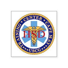 """USCG-TraCen-Cape-May-Health Square Sticker 3"""" x 3"""""""