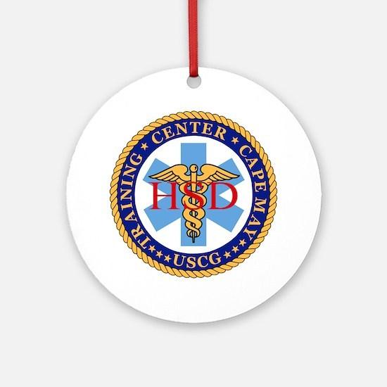 USCG-TraCen-Cape-May-Health-Service Round Ornament