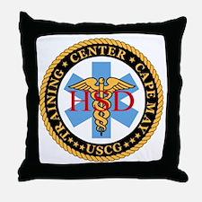 USCG-TraCen-Cp-My-Health-Services-Bla Throw Pillow