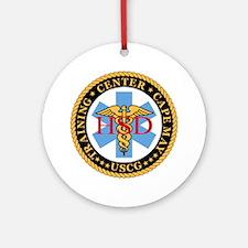 USCG-TraCen-Cp-My-Health-Services-B Round Ornament