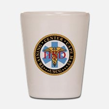 USCG-TraCen-Cp-My-Health-Services-Black Shot Glass