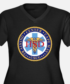 USCG-TRACEN- Women's Plus Size Dark V-Neck T-Shirt